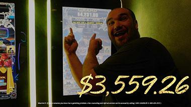 $3,559.26 jackpot winner at Argosy Casino Alton.