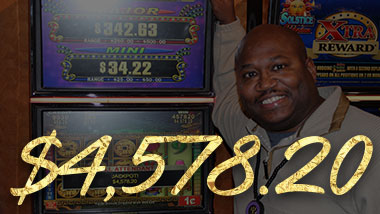 Our latest jackpot winner won $4,578.20.