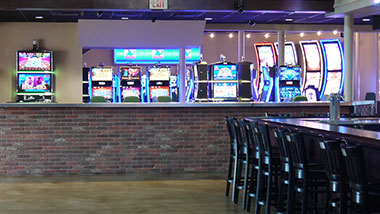 Outside Hops House new gaming floor area at Argosy Casino Alton.