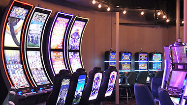 New gaming floor Hops House area at Argosy Casino Alton.