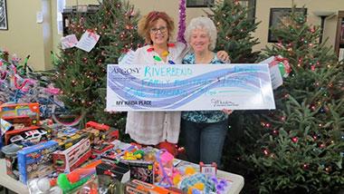 Argosy Casino Alton donated $1,000 to Riverbend Family Ministries.