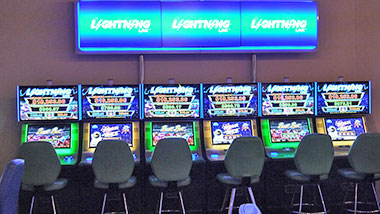 New gaming floor area with Lightning Link slot machines at Argosy Casino Alton.