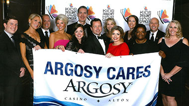 Argosy Casino Alton donated $1,000 to Kids Shouldn't Have Cancer.