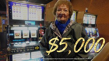 $5,000 jackpot winner at Argosy Casino Alton.
