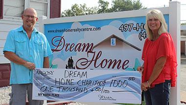 Argosy Casino Alton donated $1,000 to Dream Home Charities.