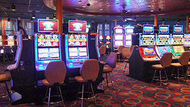 New gaming floor outside Cage at Argosy Casino Alton.