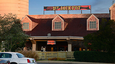 The entrance to 1st Jackpot Casino in Tunica, Mississippi.