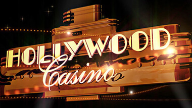 Hollywood Casino sign in gold and black