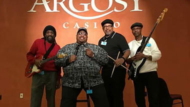 The entertainment, live local band Big George Jr. and NGK Band at Argosy Casino Alton.