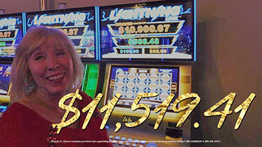 $11,519.41 jackpot winner at Argosy Casino Alton.